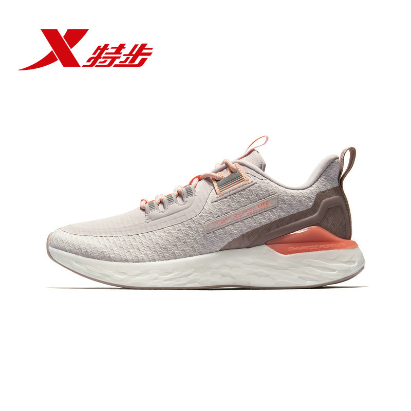 Xtep Dynamic Form Women's Running Shoes 2019 Spring New Lightweight Shock Breathable Casual Sneakers Shoes 981118110306