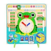 Wooden calendar education weather season toy clock learning
