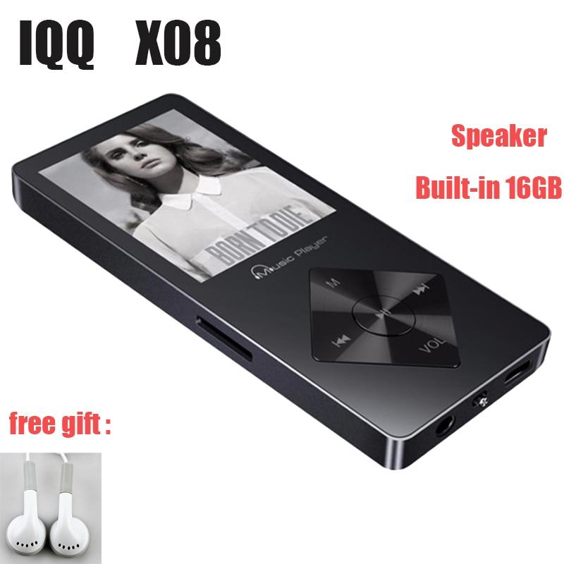 X08 HIFI 16GB MP3 Player With Headphones Speaker FM Radio E-