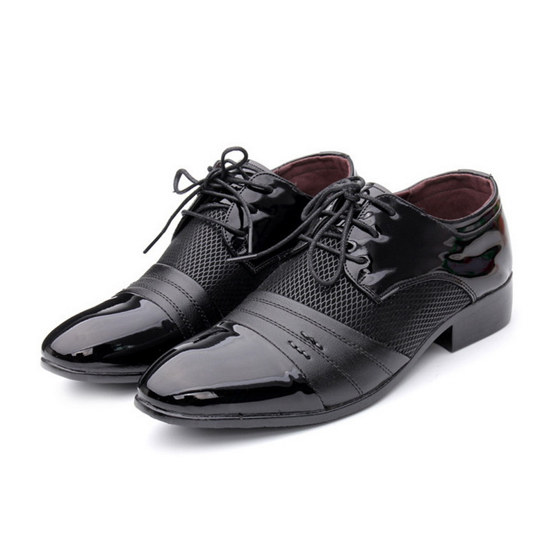 Laamei Plus Size 46 47 Pu Leather Men Flats Lace Up Male Shoes Formal Business Men Dress Shoes High Quality Casual Flat Shoes men s leather shoes vintage style casual shoes comfortable lace up flat shoes men footwears size 39 44 pa005m