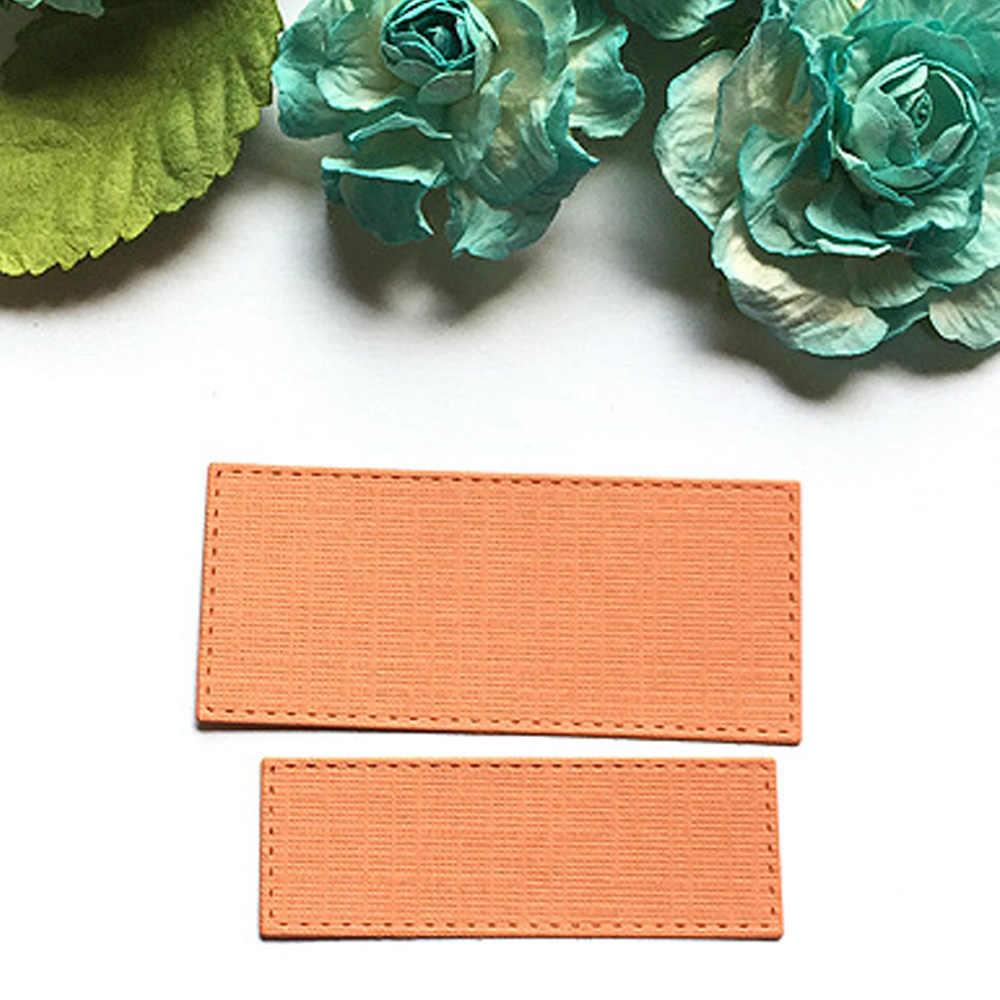 8 adet çeşitli boyut Metal karbon çelik dikdörtgen kabartma kesme ölür için şablonlar şablon DIY Scrapbooking albümü kağıt kartı