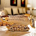 A couple of fish arowana ornaments are Home Furnishing decoration high-grade ceramic crafts gift wedding celebration