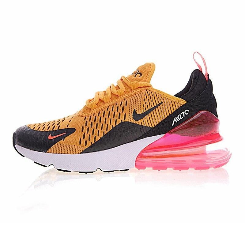 Nike AIR MAX 270 Women's Running Shoes, Yellow Pink, Shock