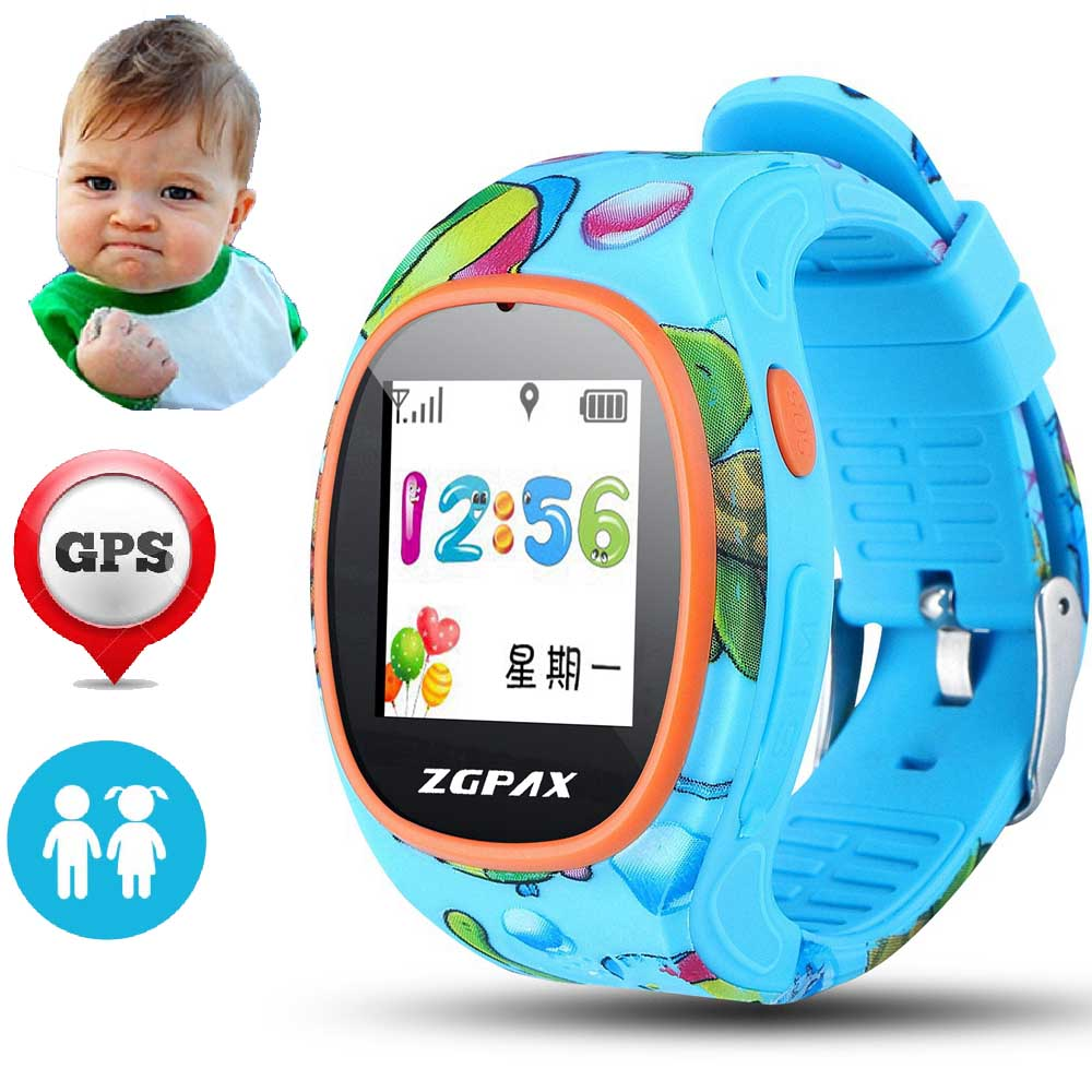 S866 Smart Wrist font b Watch b font SOS GPS WIFI WeChat Children Tracker font b