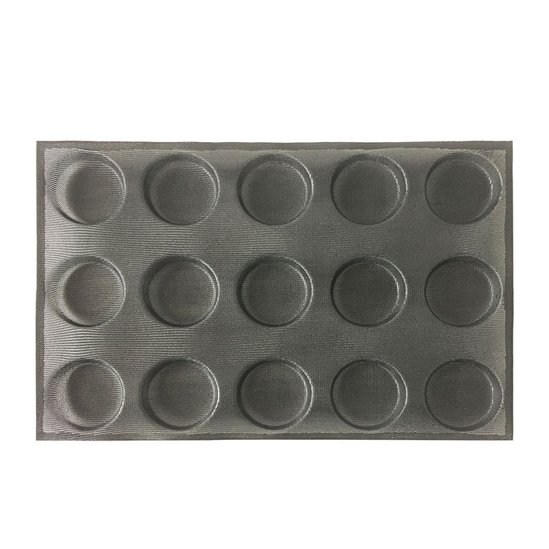 Subway demarle Silform Style Non-stick Perforated Baking Mold for 4-Inch Buns 15 Molds silicone bread pan Muffin Pan bread pan