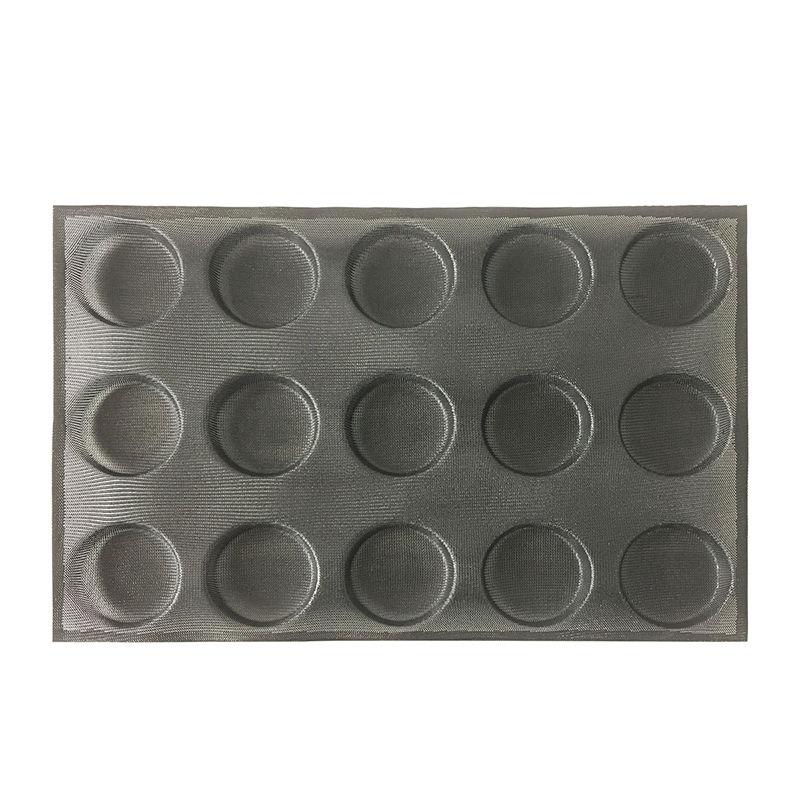 Silform Estilo Anti-aderente Perfurada Moldes pan pão silicone Muffin Pan Molde de Cozimento para 15