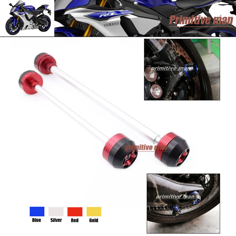 ФОТО For YAMAHA YZF R1 YZFR1 YZF-R1 2004-2006 Motorcycle Accessories Front & Rear Axle Fork Crash Sliders Wheel Protector Red
