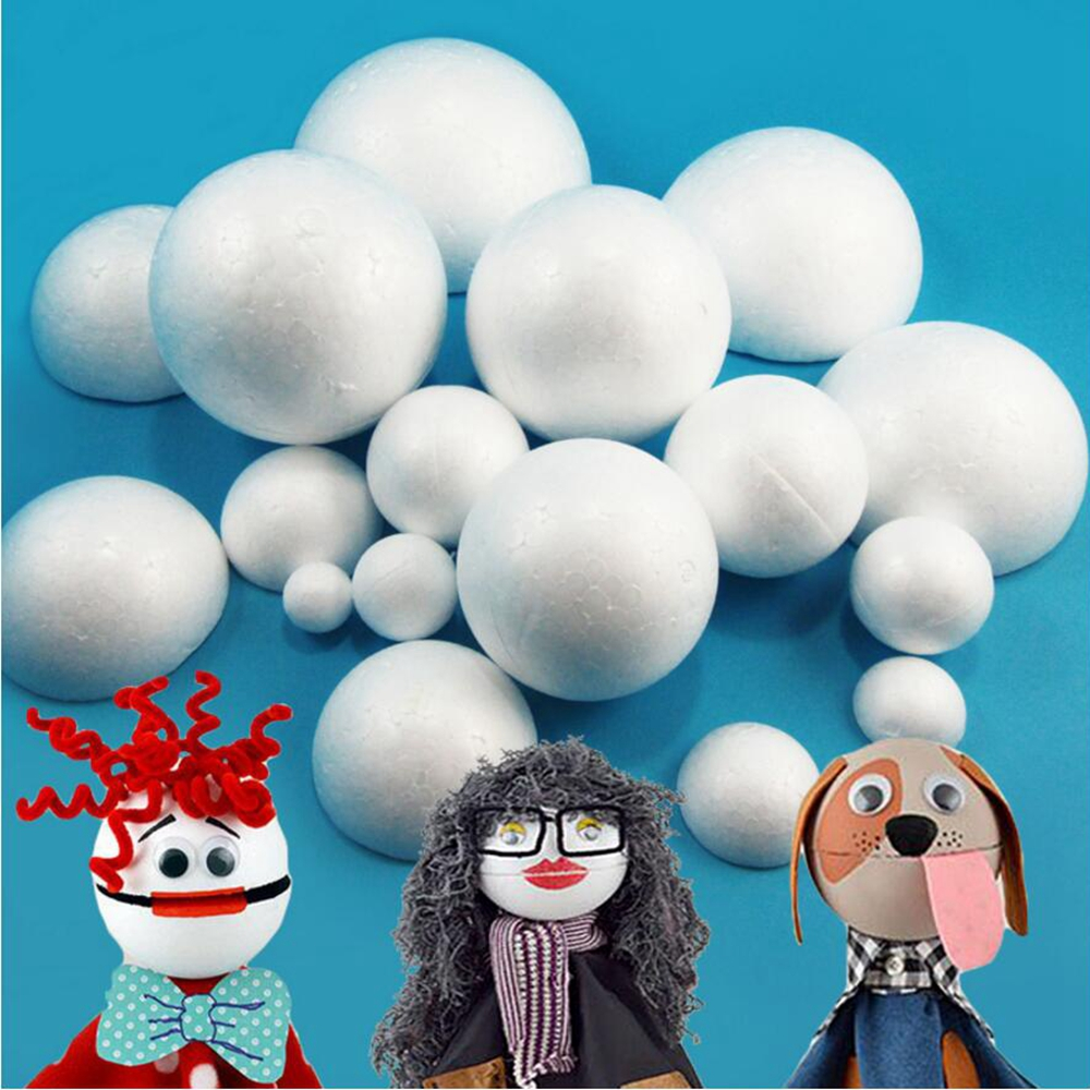 Foam ball craft - 5pcs Lot 5cm 6cm 7cm 8cm Styrofoam Creative Eps Solid Small Ball Diy Craft White