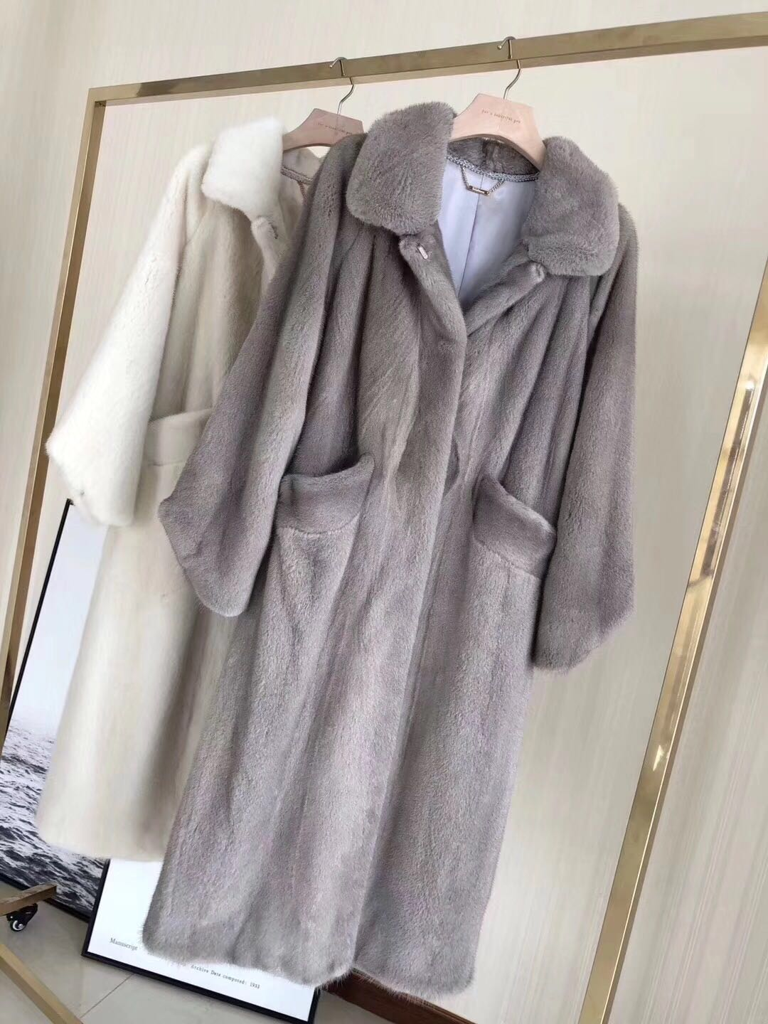 Long Color Outwear Veste Réel Naturel Manteau De Fourrure Picture 2018 Nouveau Femmes picture Color Vison qRywa8R7H