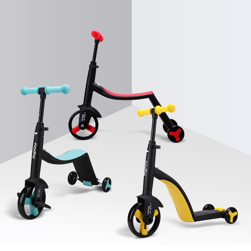 Conversion Children Three Wheel Scooter Ride A Bike Outdoor Tricycle Baby 3 In 1 Balance Bike Ride On Toys yoya stroller bicicleta scooter flash wheel children outdoor toys tricycle kid bike car slide ride on toy with led light flash adjustable high