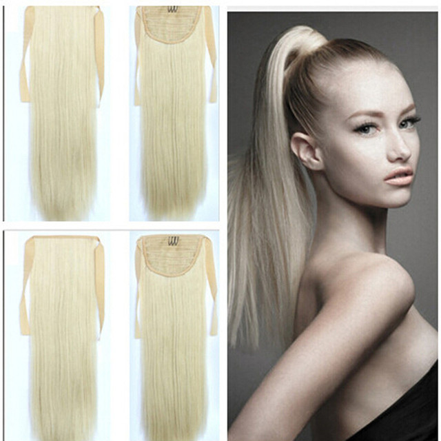 Long Ponytail Clip In Pony Tail Hair Extension Extensions Wrap On