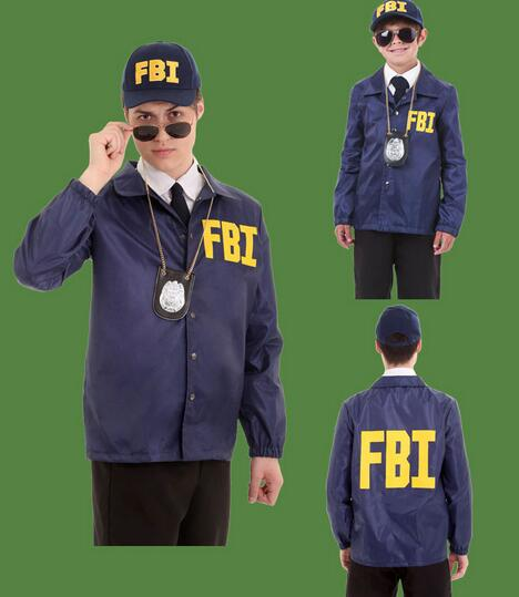 2016 Hot FBI Agent Kids Police Cosplay Costume Party Performance Clothes Cop Outfit Detective Officer Special & 2016 Hot FBI Agent Kids Police Cosplay Costume Party Performance ...