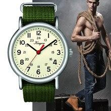 Heißer Stilvolle Kühlen männer Uhr Arabischen Ziffern 24 Stunde Militär Zeit Nylon Gürtel Uhr Uhr Männer Quarz Armbanduhr Reloj hombre # F