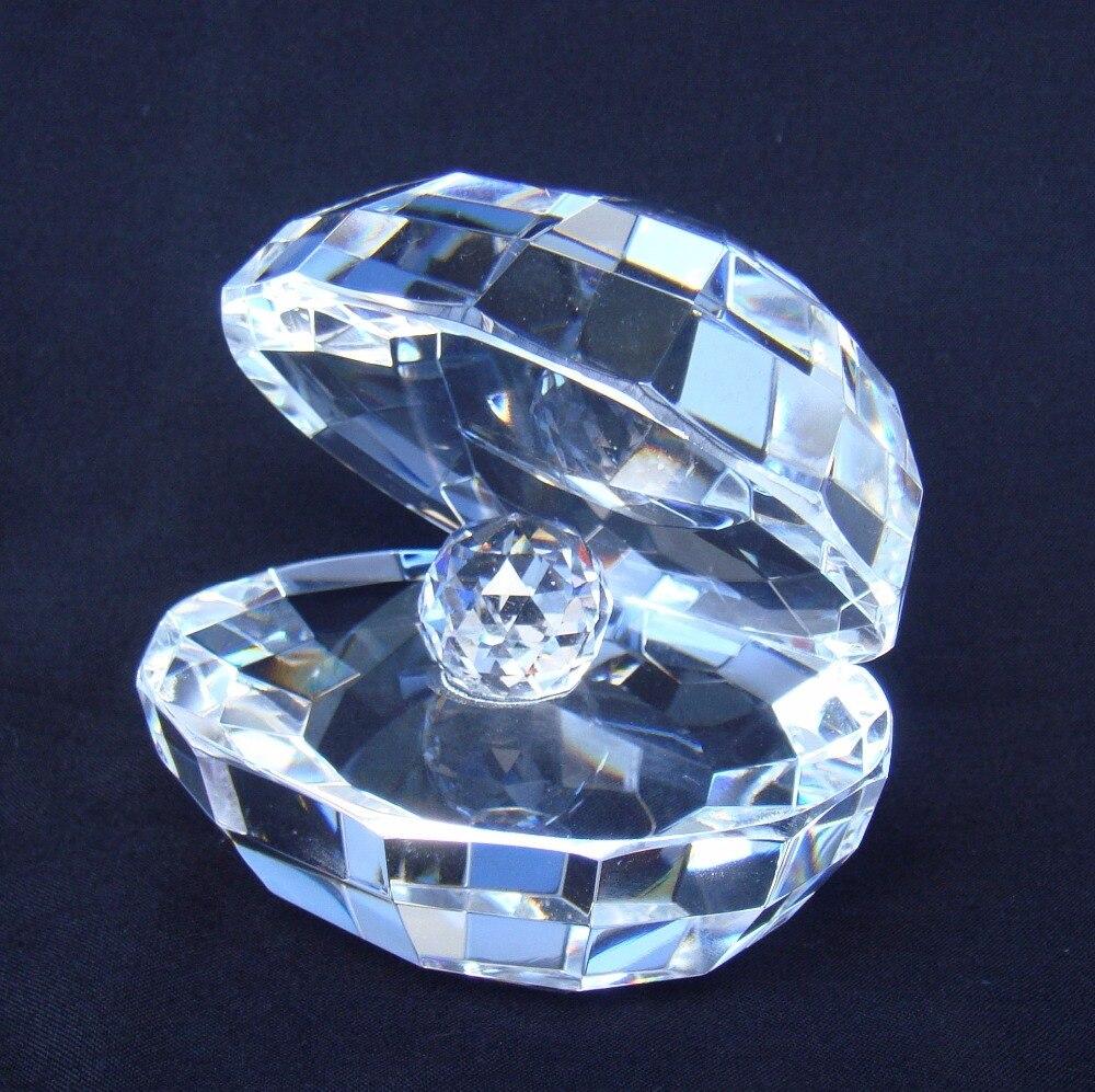 Cristal Transparent perle moule modèle décoratif Quartz roche Shell sculpture aquatique créature bibelot ornement cadeau et artisanat