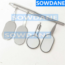 Dental Mouth Mirror Odontoscope Oral Care Teeth Clean Examination Hygiene Stainless Steel Glass Mirror