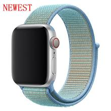 Strap For Apple Watch band 42mm 38mm apple watch 4 3 5 band Sport loop iwatch band 44mm 40mm correa pulseira nylon watchband 44