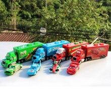 Disney Pixar Lightning McQueen & Mack Truck The King, 1 : 55 Die-cast Metal Alloy Model Figures Toys