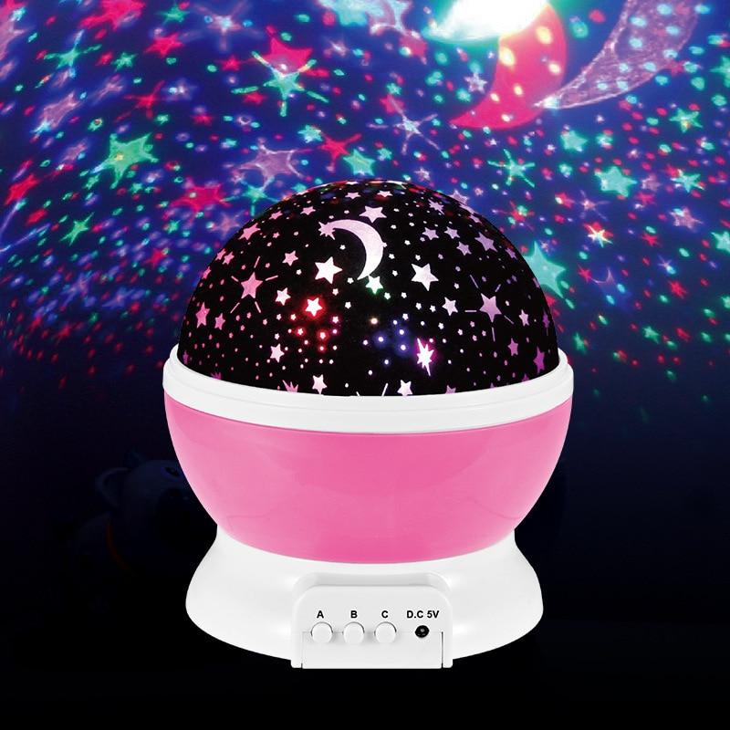 Novelty Luminous Toys Romantic Starry Sky Led Night Light Projector Battery Usb Night Light Creative Birthday Toys For Children