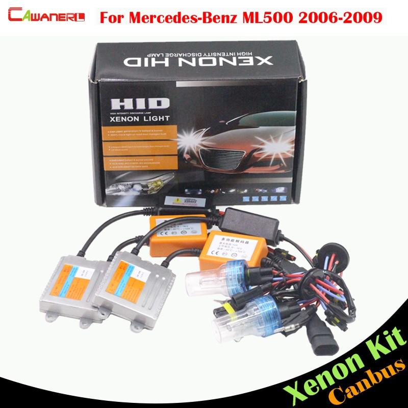 Cawanerl 55W HID Xenon Kit AC No Error Ballast Bulb Car Headlight Low Beam 3000K-8000K For Mercedes Benz W164 ML500 2006-2009 цена