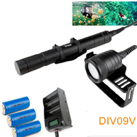 Brinyte/Nitesun DIV09V XM L2 LED Diving Flashlight photography With Magnetic Switch Underwater 150m 1000 Lumens Diving Torch