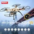 Syma x8hw wifi 2.0mp hd cámara rc quadcopter fpv transmisión en tiempo real con mantenimiento de altitud modo sin cabeza