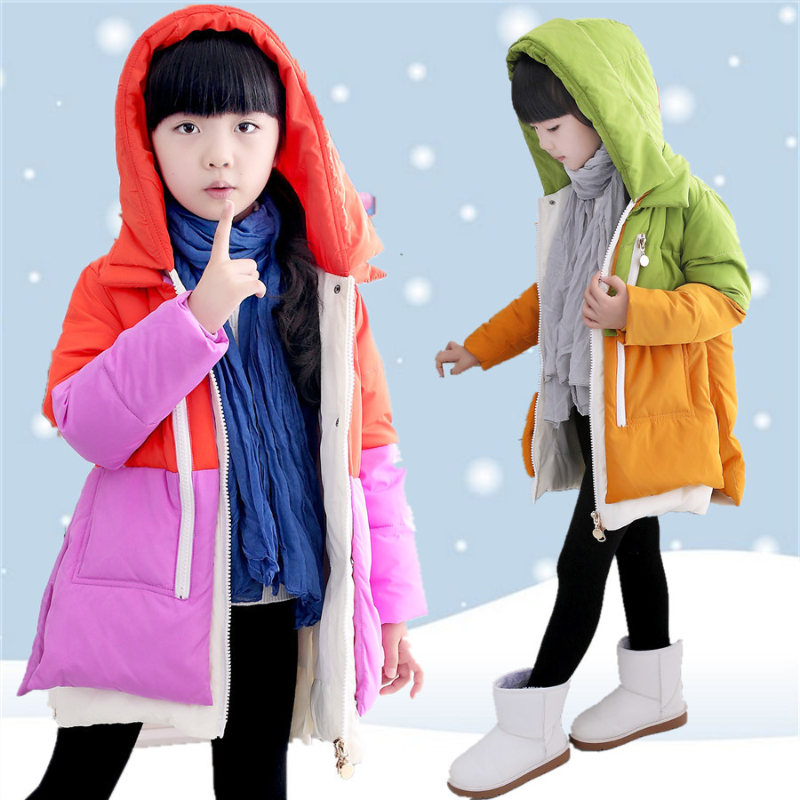 2017 NEW Children's Down Jacket Girls Coat Fashion Hooded Winter Girls Jacket Long Warm Duck Down & Parkas 9 10 11 12 13 14 Year russia winter boys girls down jacket boy girl warm thick duck down