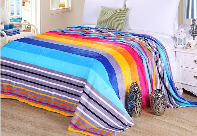 hot sale fleece warm blanket super soft bedsheet bedding set