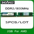 Оптовая продажа 5 ШТ./ЛОТ Бренд РАМС DDR2 2 ГБ 800 МГц PC2-6400 Совместимость с 667 МГц 533 МГц DIMM Памяти Для настольный ПК Для AMD