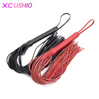 65cm Sexy Bondage Whip Punishment Salve Bdsm Games Sex Toys Hand Made AAA Genuine Leather Whip
