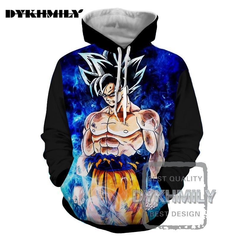 Hoodies & Sweatshirts Dykhmily Men S-6xl Fashion Men Hoodies Hip Hop Spring And Autumn Jacket 3d Hoodies Funny Goku Dragon Ball Z Anime Chatacter