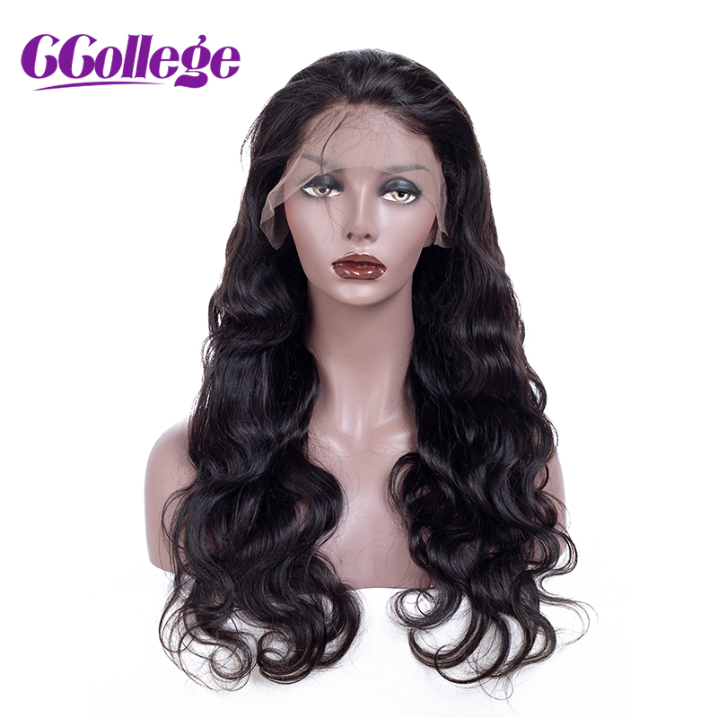 CCollege 360 Lace Frontal Wigs Pre Plucked With Baby Hair Brazilian Body Wave Human Hair Wigs For Black Women Non Remy