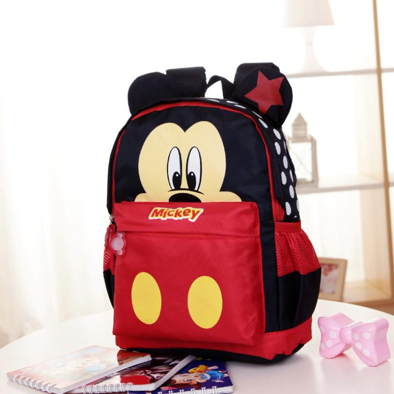 Hot Kids Cartoon Backpack Primary Children Cartoon Mickey School Bags Waterproof Schoolbags Satchel For Boys Girls 2 Colors