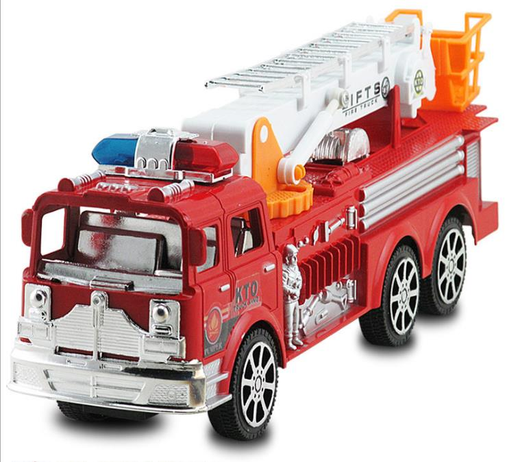 New Children's Toy Car Large Inertia Simulation Fire Truck Ladder Model Toys