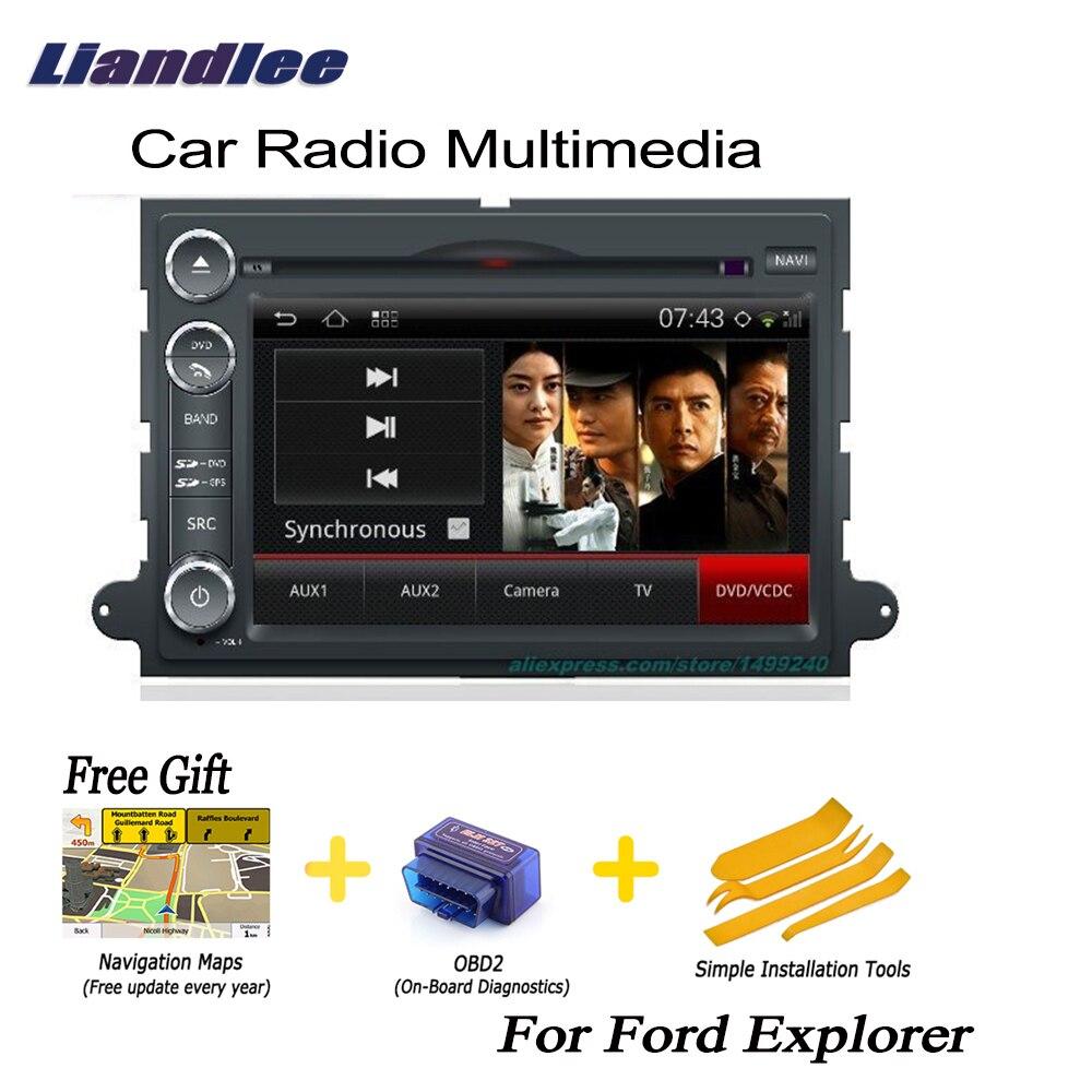Liandlee для Ford Explorer 2006 ~ 2010 2 din Автомобильный Android навигатор Android навигации navi карты CD DVD плейер Радио HD Экран OBD2 ТВ