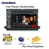 Liandlee For Ford Explorer 2006~2010 2 din Car Android GPS Android navigation navi maps CD DVD palyer radio HD Screen OBD2 TV