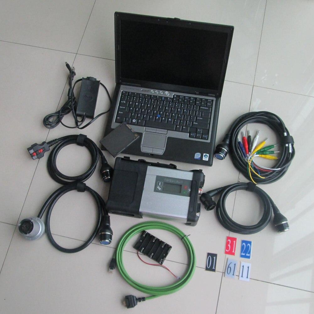 2019 MB Star C5 SD Collegare sd c5 con il Computer Portatile D630 (4g) HDD SSD Software di Diagnosi 2018.12 v DAS DTS per Mb Star C5 Le Automobili & I Camion
