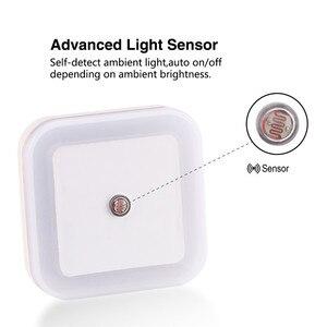 Image 4 - Nocna lampka ścienna kontrola czujnika światła indukcja energooszczędna lampka nocna do snu 110V 220V na pokój dziecięcy sypialnia korytarze