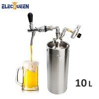 home brewing stainless steel mini keg 10L Beer Keg High Quality Pressurized Mini Growler ,Keg Growler Set with Beer Faucet Tap