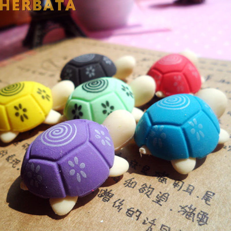 Free Shipping 4pcs/Lot Turtle Eraser Rubber Eraser Cleansing Kid Child Gift Toy School Stationery Products CL-1804