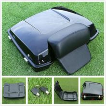 Motorcycle Painted Razor Tour Pak Pack Trunk w/Pad For Harley Touring Road King Street Electra Glide 97-13