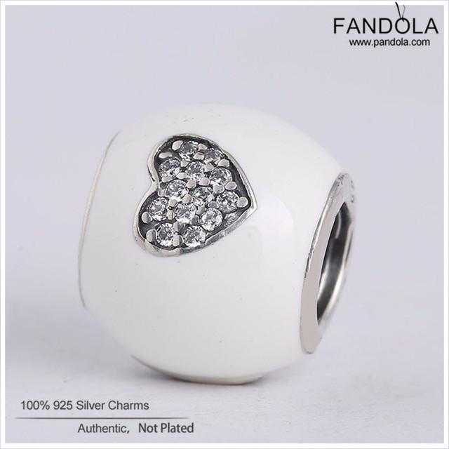 100% 925 esterlina encantos jóias de prata antigo eu amo rato charme beads com clear cz serve pandora encantos pulseiras