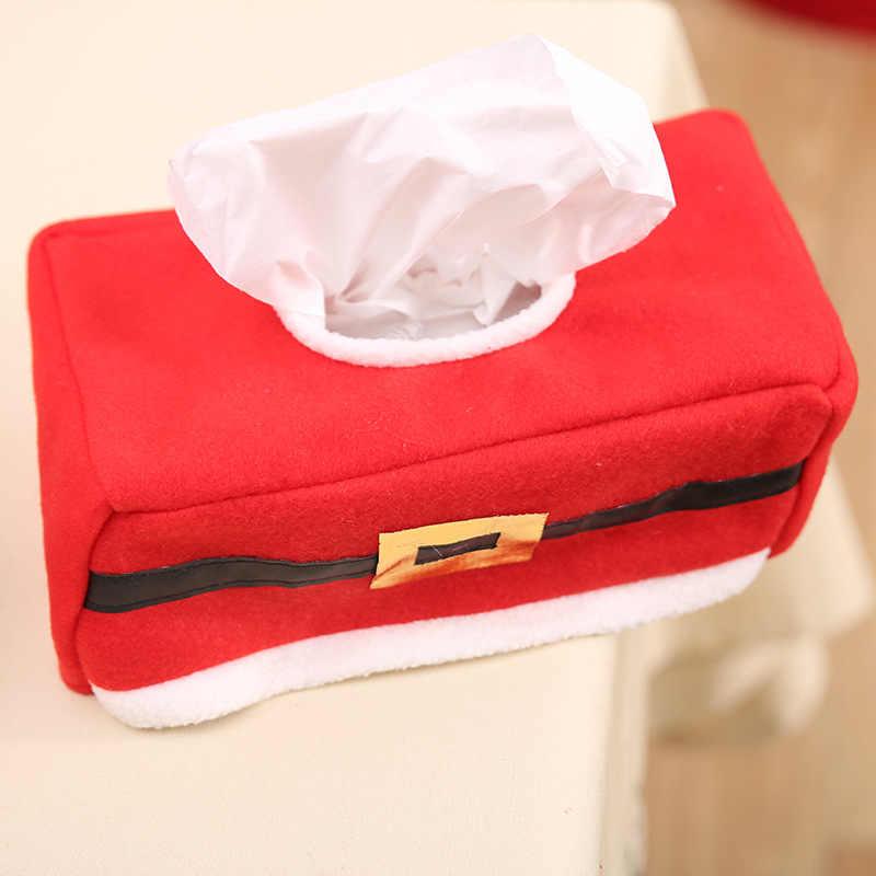Merry Christmas Elf tissue box Обложка Рождественский домашний стол украшение нестандартный пояс/клевер салфетка с узором держатель для бумажного полотенца