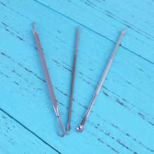 3pcs Blackhead Extractor Tool Set Stainless Acne Needle Pimple Blackhead and Comedone Acne Extractor Facial Pore Cleaning Tool