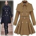 Chaquetas de las mujeres Venta de nuevos modelos estrella de la manera del estilo del cabo del mantón insignias falda chaqueta de la capa envío gratis