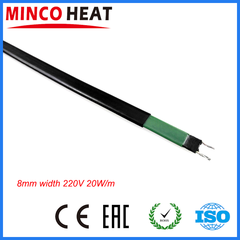 8mm Width Water Pipe Freeze Protection 20W/m Self Regulating Heating Cable Snow Melting Warm Floor