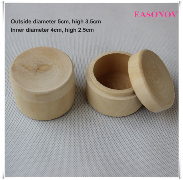 Small Round Wooden Storage Boxes Ring Box Vintage decorative Natural