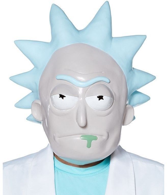 Rick and Mori Full Face Mask Adult Latex Helmet Halloween Fancy Ball Party Gift