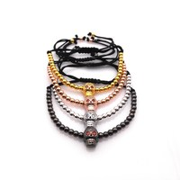 Wholesale 4pcs Anil Arjandas Men Bracelets Personality Fashion Skulls Micro Inlay Zircon Bracelet 4 Colors Free