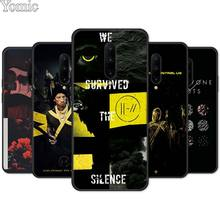 Twenty One Pilots 21 Pilots Silicone Phone Case for Oneplus 7 7 Pro 6 6T 5T Black Case for Oneplus 7 7Pro Soft TPU Cover Shell