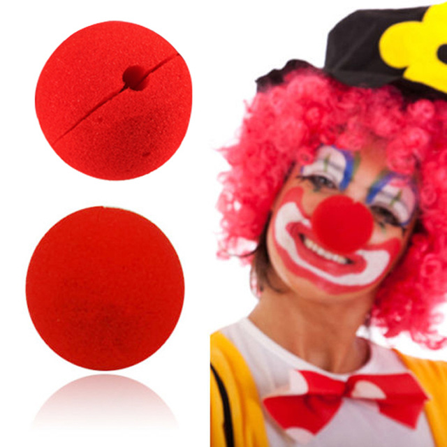 10 Pcs lot Decoration Sponge Ball Red Clown Magic Nose for Halloween Masquerade Decoration Free Shipping